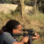 Rifle shooting...